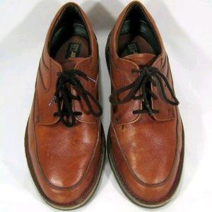 Dexter Men's Dark Tan Leather Oxfords Size: 9WW